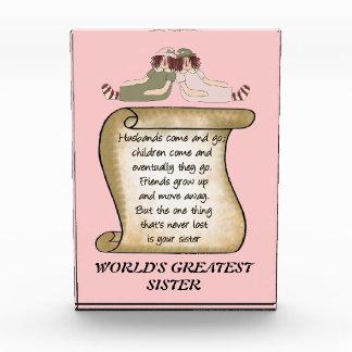 World's Greatest Sister Award
