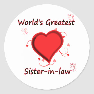 World's Greatest sister-in-law Classic Round Sticker
