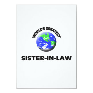 World's Greatest Sister-In-Law 5x7 Paper Invitation Card