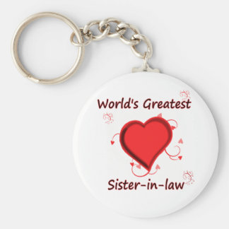 World's Greatest sister-in-law Keychain