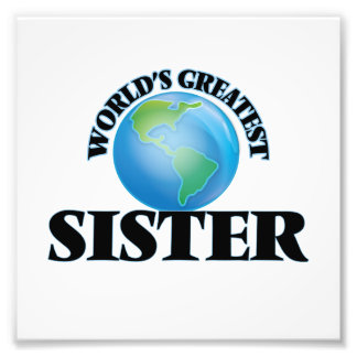 World's Greatest Sister Photo Art