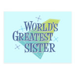 World's Greatest Sister Post Cards