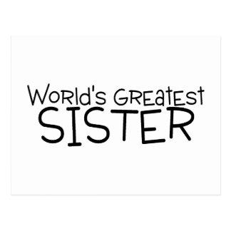 Worlds Greatest Sister Postcard