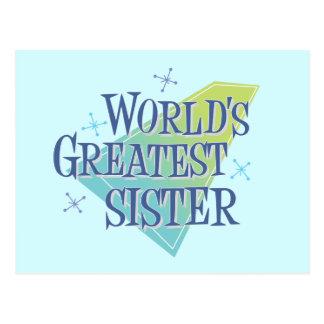 World's Greatest Sister Postcard