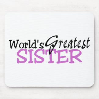 Worlds Greatest Sister Purple Black Mouse Pad
