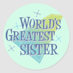 World's Greatest Sister Sticker