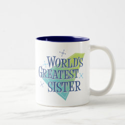 Two-Tone Mug with World's Greatest Sister design