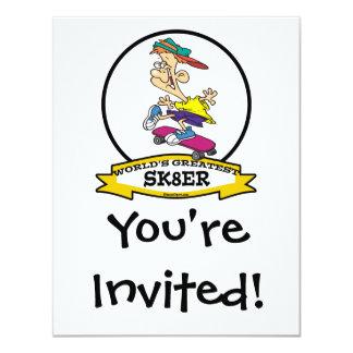 WORLDS GREATEST SK8ER CARTOON CARD