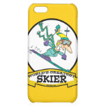WORLDS GREATEST SKIER MEN CARTOON iPhone 5C COVER