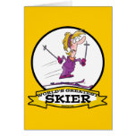 WORLDS GREATEST SKIER WOMEN CARTOON CARDS