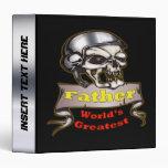 Worlds Greatest Skull Father Avery Binder
