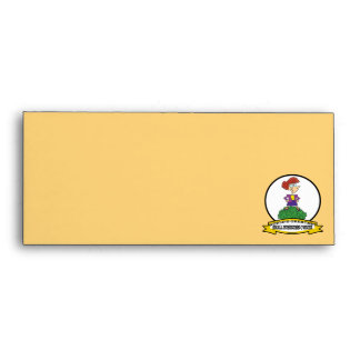WORLDS GREATEST SMALL BUSINESS OWNER WOMAN CARTOON ENVELOPE