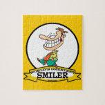 WORLDS GREATEST SMILER MEN CARTOON JIGSAW PUZZLES