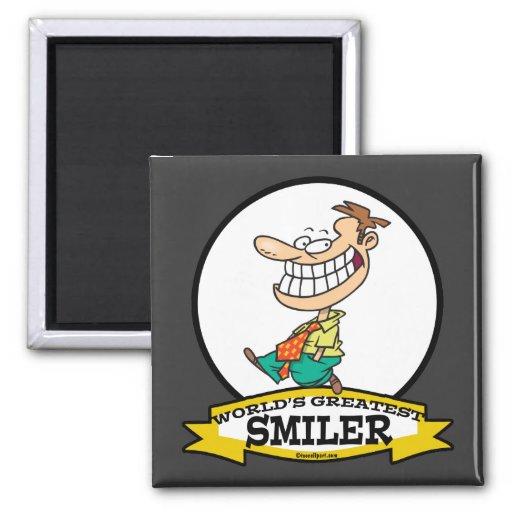 WORLDS GREATEST SMILER MEN CARTOON MAGNET