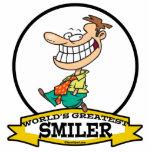 WORLDS GREATEST SMILER MEN CARTOON PHOTO CUT OUT