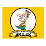 WORLDS GREATEST SMILER MEN CARTOON POSTCARDS