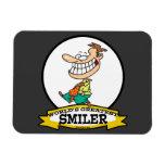 WORLDS GREATEST SMILER MEN CARTOON VINYL MAGNETS
