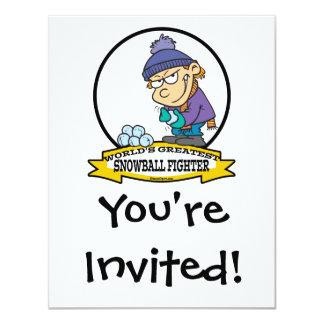 WORLDS GREATEST SNOWBALL FIGHTER KIDS CARTOON CARD