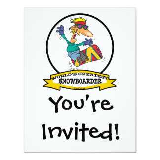 WORLDS GREATEST SNOWBOARDER CARTOON CARD