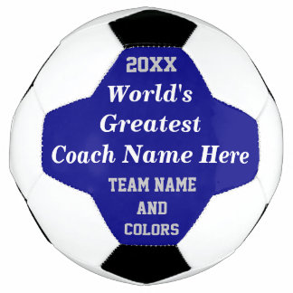 World's Greatest Soccer Coach Gifts,  TEXT, COLORS Soccer Ball