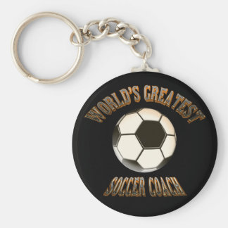 World's Greatest Soccer Coach Keychain