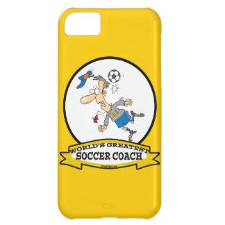 WORLDS GREATEST SOCCER COACH MEN CARTOON iPhone 5C COVER