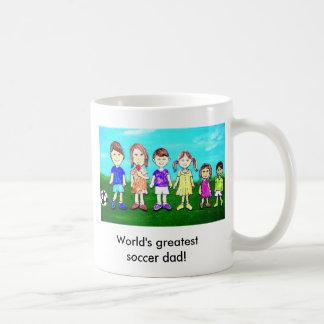 World's greatest soccer dad! coffee mug