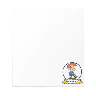 WORLDS GREATEST SOCCER KID CARTOON NOTEPAD
