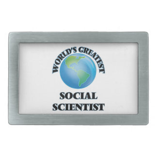 World's Greatest Social Scientist Rectangular Belt Buckle