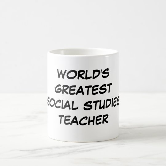 """World's Greatest Social Studies Teacher"" Mug"