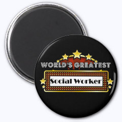 World's Greatest Social Worker 2 Inch Round Magnet