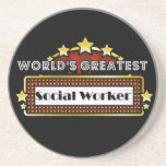 World's Greatest Social Worker Beverage Coaster