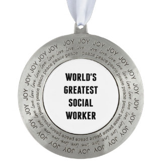 Worlds Greatest Social Worker Ornament