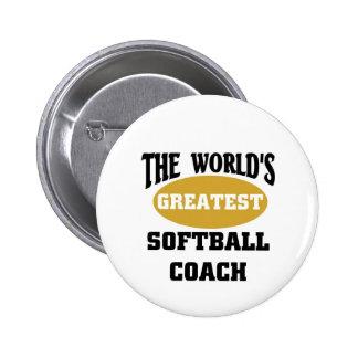 World's greatest softball coach pinback buttons