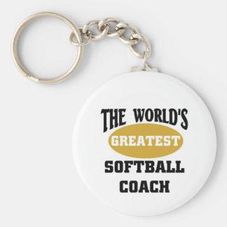 World's greatest softball coach keychain