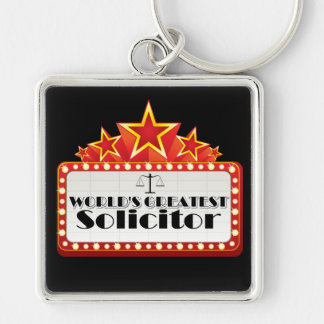 World's Greatest Solicitor Keychain