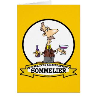 WORLDS GREATEST SOMMELIER CARTOON CARDS