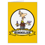 WORLDS GREATEST SOMMELIER CARTOON GREETING CARD