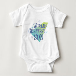 Baby Jersey Bodysuit with World's Greatest Son design
