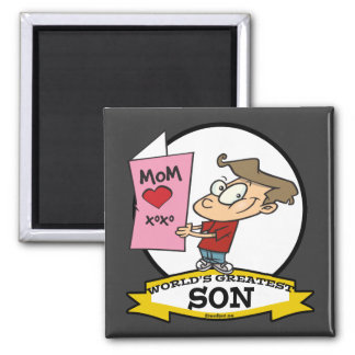 WORLDS GREATEST SON CARTOON MAGNET