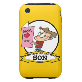 WORLDS GREATEST SON CARTOON TOUGH iPhone 3 COVER