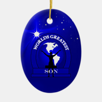 Worlds Greatest Son Christmas Ornament