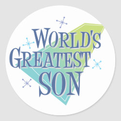 Round Sticker with World's Greatest Son design