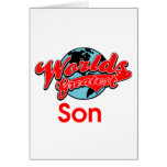 World's Greatest Son Greeting Card