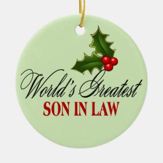 World's Greatest Son In Law Ceramic Ornament