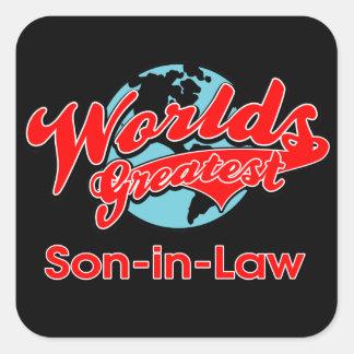 World's Greatest Son-in-Law Square Sticker