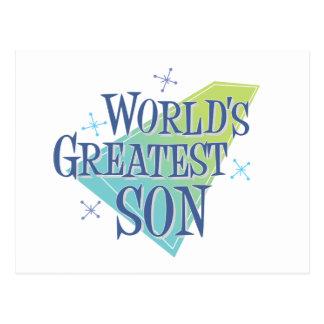 World's Greatest Son Postcard