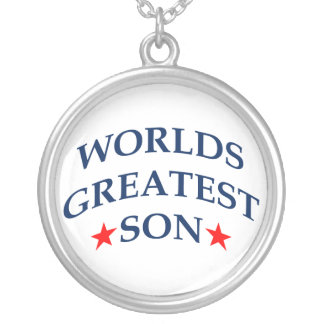 World's Greatest Son Round Pendant Necklace