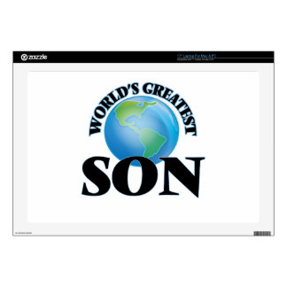 """World's Greatest Son Decal For 17"""" Laptop"""