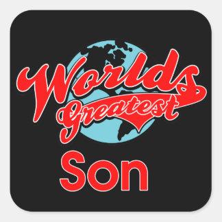 World's Greatest Son Square Sticker